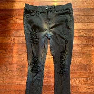 Express Mid Rise Distressed Jeans